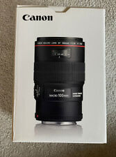 Canon EF 100mm F2.8l Macro Is USM Lens Boxed