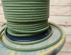 Green 2-Wire Cloth Covered Cord, 18ga Vintage Style Lamps Antique Lights, Cotton