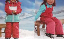 Mädchen Schneejacke pink/weiß/hellblau oder Schneehose pink wählbar Gr74/104 NEU