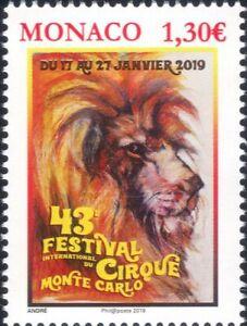 Monaco 2019 Circus Festival/Lion/Wild Animals/Nature 1v (mc1215)