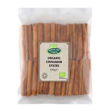 Organic True Ceylon Cinnamon Sticks / Quills 100g Certified Organic