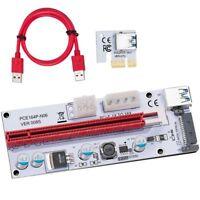 USB 3.0 Pcie PCI-E Express 1X a 16X GPU Extensor de subida Adaptador de tar W2O3