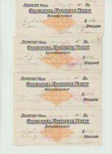 1900 DAYTON WASHINGTON COLUMBIA NATIONAL BANK 4 cancelled checks ALEX PRICE