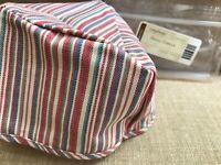 New Longaberger Small Corner Fabric Liner In Market Stripe For Basket