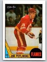 (HCW) 1987-88 O-Pee-Chee #209 Jim Peplinski Flames