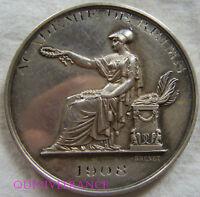 MED4664  - MEDAILLE PRIX DE POESIE - ACADEMIE DE REIMS 1908 en ARGENT