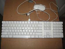 Apple White USB Keyboard & Optical Mouse iMac G3 G4 G5 A1048 M5769