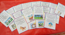 NURSERY RHYMES - 20 FLASH CARDS - PRE-SCHOOL / BABY/ DISPLAY/ EYFS/ LAMINATED