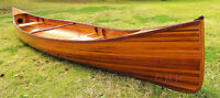 Cedar Wood Strip Built Canoe 18' Feet Wooden Boat Without RIBS Woodenboat USA