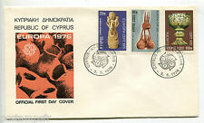 CHYPRE - 1976, FDC 1° jour, EUROPA, LOT 3 timbres 429 430 431
