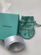 Auth Tiffany & Co  Elsa Peretti Turquoise Open Heart Dangling Earrings Rare