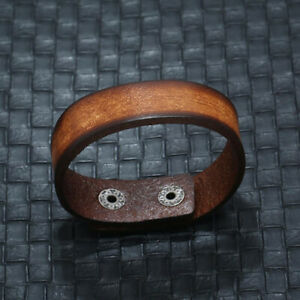 Punk Mens Women Brown Leather Bracelet Bangle Wristband Surfer Wrap Cuff Jewelry