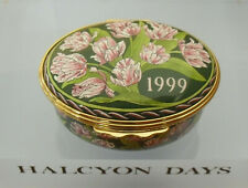 """Halcyon Days """"A Year To Remember"""" 1999 Floral Box  - >2""""(5.25cms)"""