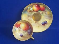 Outstanding 1926 Royal Worcester Hand Painted (Bee/Townsend) Fruits Cup & Saucer