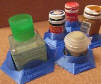 Anti-spill stand for paints and glues, Tamiya, Citadel etc DragonBadger 3d print