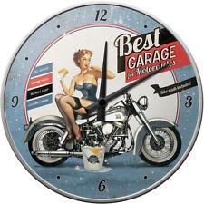 BIKE Best garage... MOTO VINTAGE 50s Orologio/Orologio da parete 30cm Rockabilly