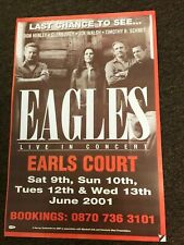"""The Eagles Earls Court 2001 Reunion Tour Cardstock Concert Poster 12"""" x 18"""""""
