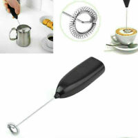 Frother Electric Milk Mixer Drink Foamer Coffee Egg Whisk C2Y0 B3Y0 Latte I6P8