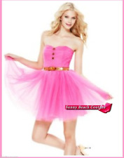 Betsey Johnson PINK POW POOF STRAPLESS DRESS COCKTAIL PROM PARTY WEDDING 4