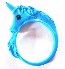 BLUE UNICORN RING fantasy fairy tale princess pony horse adjustable finger 6B
