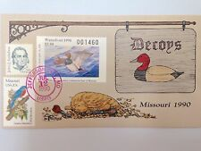 COLLINS HAND PAINTED FDC 1990 MISSOURI MILFORD DUCK