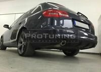 For Audi A6 C6 4F 08-11 Rear Bumper Spoiler Diffuser twin exhaust diffuzer skirt