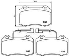 Brake Pad Set, disc brake A.B.S. P23074
