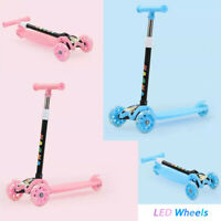 For Kids LED Scooter Deluxe 3 Wheel Glider with Kick n Go Lean 2 Turn 2 colors