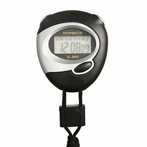 Digital Handheld Sports Stopwatch Stop Watch Timer Alarm Counter UK POST