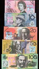 FANTASY NOTES, CHINA BANK, AUSTRALIA  5,10,20,50 and 100 DOLLARS SET,5 PCS