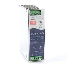 WDR-120-24 DIN-Rail Alimentazione 120W 24Vdc 5A; MeanWell, 2 fase PSU