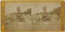 Paris Jardin du Luxembourg Fontaine France Photo Stereo L5n62 VintageAlbumine