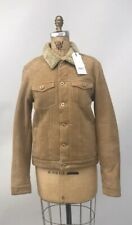 NWT SCOTCH & SODA WOMEN'S SUEDE SHERPA JACKET 147817 SMALL TAN $595