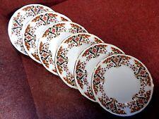 "SET OF 6 COLCLOUGH "" ROYALE "" Floral & Scroll 6"" TEA PLATES 8525 - FREE UK POST"