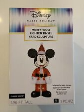 ***New*Disney Magic Holiday Mickey Mouse Lighted Tinsel Yard Sculpture