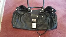 Guess Black Leather Handbag w/lock and key