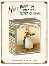 Nostalgic Walter Baker & Co., Breakfast Cocoa Sign