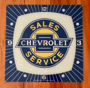 """NEW 15"""" Chevrolet Sales & Service Square Replacement Face for Pam Clock"""