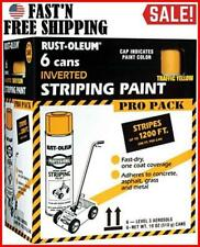Spray Paint Car Parking Lot Striping Machine Line Road Marking Flat White 6 Pack