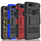 For OnePlus 6T / 5T  Shockproof Hybrid Dual Layer Belt Clip Holster Case Cover