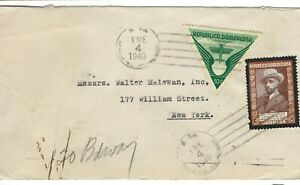 CX14 Dominica cover with triangle stamp to New York USA