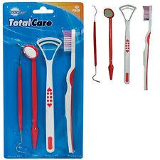 4 Pcs Dental Set Tool Dentist Teeth Kit Clean Hygiene Pick set UK