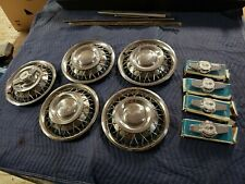 """NOS GM Set of 5 1962 63 Chevrolet Wire Hubcaps & Spinners Impala Chevy II  14"""""""