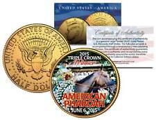 AMERICAN PHAROAH Triple Crown Winner JFK Half Dollar Coin Gold Plated TEST ISSUE