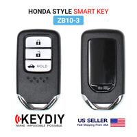 KEYDIY KD Universal Smart Proximity Remote Key 3 Buttons Honda Type ZB10-3
