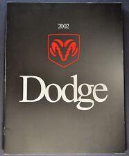 2002 Dodge Brochure Intrepid Stratus Neon Caravan Durango Dakota Ram Pickup Van