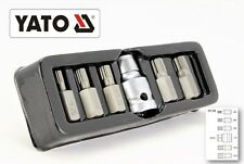 Bitsatz Steckschlüssel Stahl S2 SPLINE VIELZAHN XZN5-XZN12 6tlg M5-M12