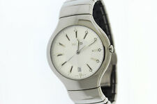 Men's Rado True Elegance R27654102 Platinum Tone Ceramic Silver Dial Watch