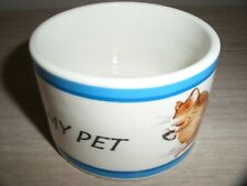 "MASON CASH ""MY PET"" CERAMIC FOOD OR WATER BOWL FOR HAMSTER , GUINEA PIG ETC"