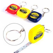 """Retractable Ruler Tape Measure Key Chain Mini Pocket Size Metric1m/3.28Ft/39"""""""